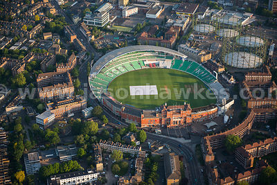 Aerial view of the Kia Oval Cricket Ground, Kennington