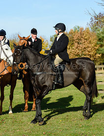 Hilary Butler at the meet. The Belvoir Hunt at Debdale Farm 10/11