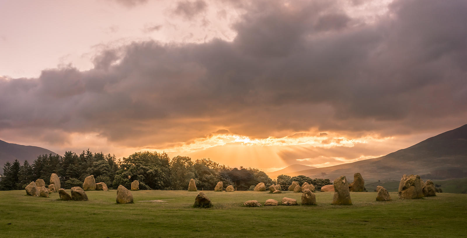 Sunrise at Castlerigg stone circle