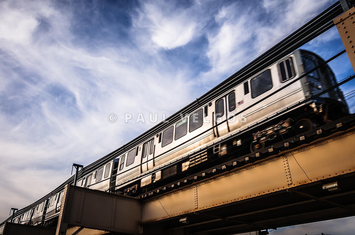 Chicago L Elevated Train