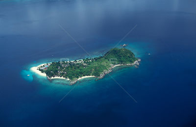 Aerial view of Dimakya Island and Club Paradise resort, Palawan, Philippines