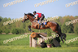 Martin MAIVALD (SVK) and GIDRAN XXI-2RUZENA during National Qualifier Eventing Competition, cross country, 2018 April 21 - Bá...
