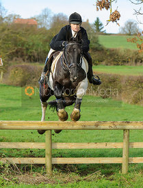Georgina Mason jumping a hunt jump