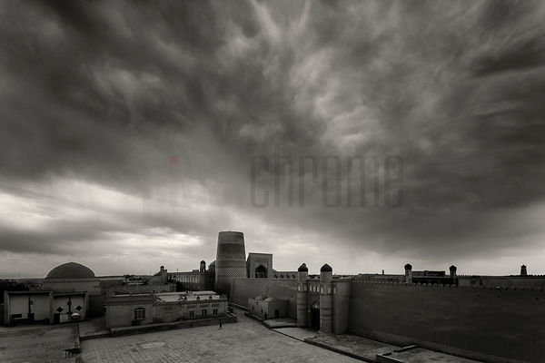 Storm Clouds over the Old Town of Khiva