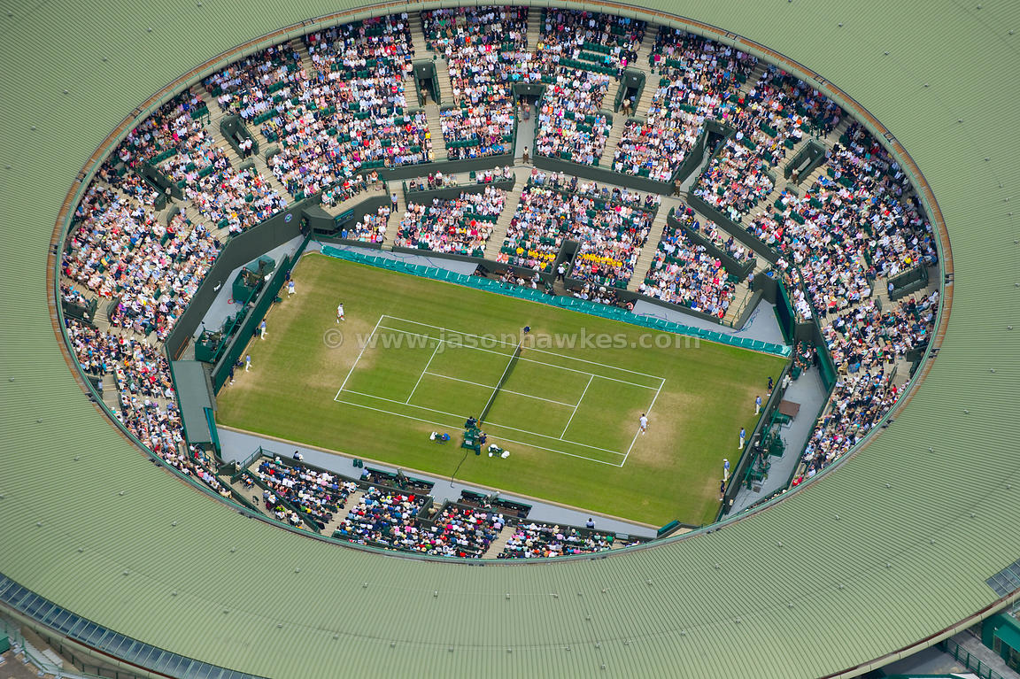 Aerial view of No. 1 Court, Wimbledon