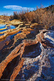 Geothermal Springs Creating Travertine New Mexico Travertine Inc. | Belen, New Mexico | Photo courtesy of Chris Ogden Photogr...