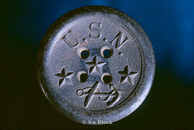Button found on the Hunley inscribed with USN
