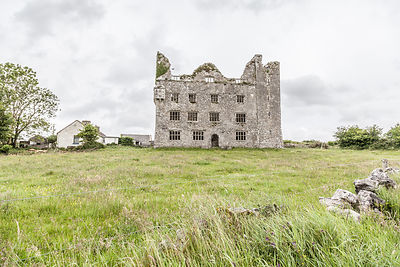 Ruin of castle or mansion, The Burren, Ireland