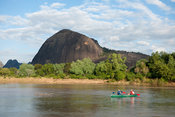 Canoeing on the Lugenda river, Niassa Game Reserve, Mozambique