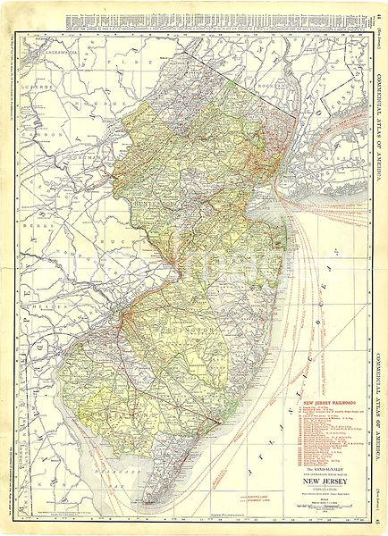 1913 New Jersey Map