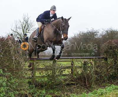 Nessie Lambert MFH - Cottesmore Hunt at Deane Bank Farm 4/12/12