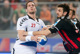Stipe MANDALINIĆ of PPD Zagreb, Ilija ABUTOVIĆ of Vardar during the Final Tournament - Final Four - SEHA - Gazprom league, se...