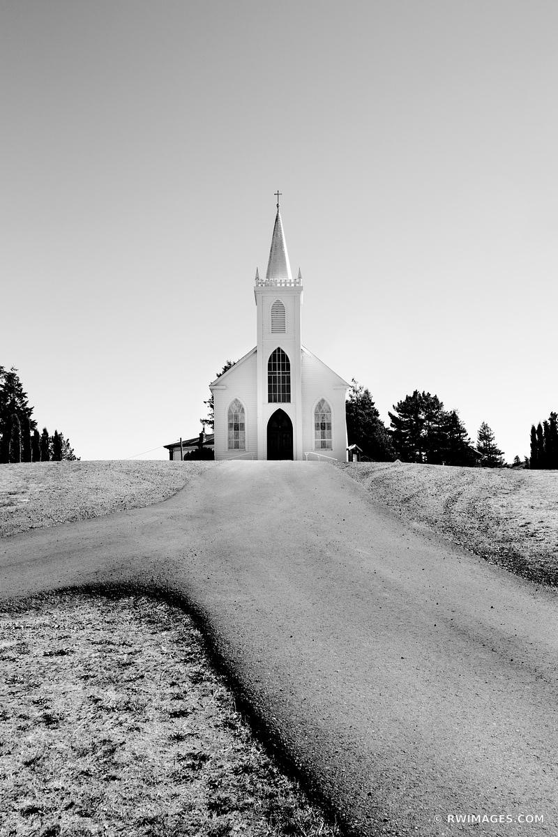 SAINT TERESA OF AVILA CHURCH BODEGA CALIFORNIA BLACK AND WHITE