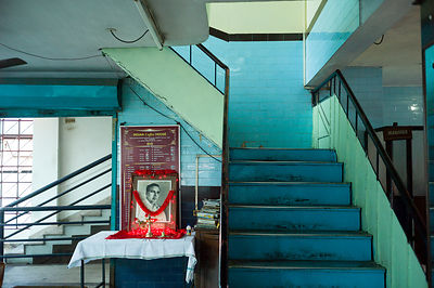 India - Ernakulam - A shrine to the Communist leader A. K. Gopalan(AKG) in the Indian Coffee House