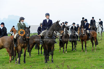 Near Mr Wilson's convert - The Cottesmore Hunt at Braunston, 12-11-13.