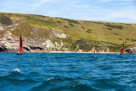 Drascombes approaching Lulworth Cove, 201707070123