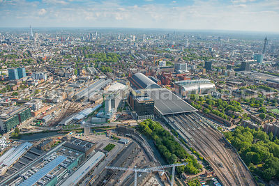 Aerial view of King's Cross, London