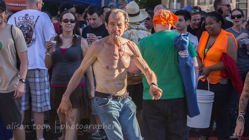 Man dancing and having fun at SacTown Rocks, 2014