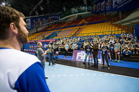 Young fans during the Final Tournament - Final Four - SEHA - Gazprom league, Kids day in Brest, Belarus, 08.04.2017, Mandator...