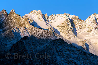 Unidentified 18,000 foot summits in the Par Panjal Range, from Rohtang Pass, Manali, India
