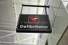 Defibrillator Sign at Airport