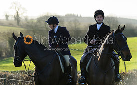 Etti and Jeremy Dale at the meet - The Belvoir Hunt at Stonesby, 19/12