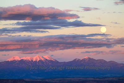 La Sal Mountain Moonrise