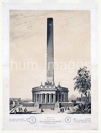 Design of the original Washington Monument ca 12 7 1847