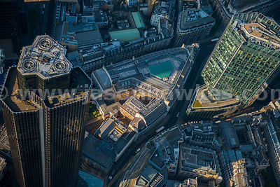 Aerial view of Tower 42, London