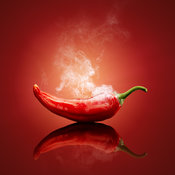 Chilli red steaming/ smoking hot