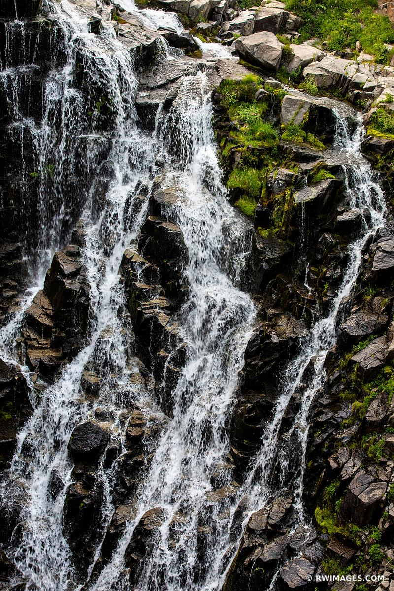MYRTLE FALLS WATERFALL MOUNT RAINIER NATIONAL PARK WASHINGTON COLOR VERTICAL