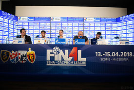 Luka Cindric, Raul Gonzales, Zlatko Saracevic and Luka Mrakovcic during the Final Tournament - Final match - PPD Zagreb vs Va...