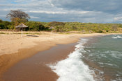Beach at Mbuna Bay, lake Niassa, Mozambique