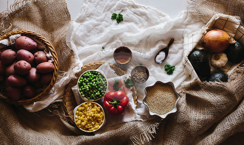 Quinoa and Vegetable Stew Ingredients