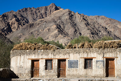 Abandoned elementary school in Saboo village, Ladakh, India