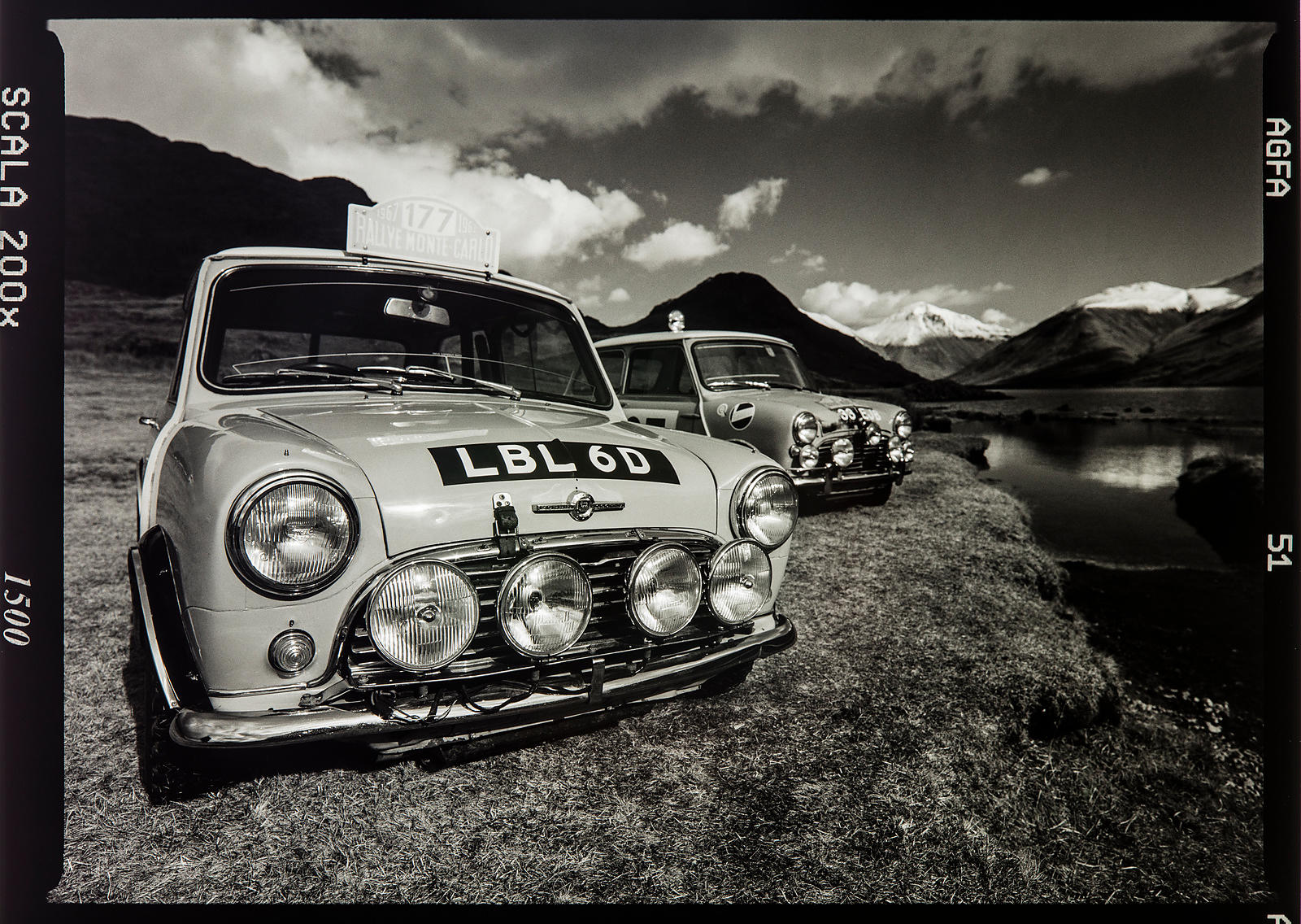 'LBL 6D and 33 EJB' The Monte Carlo Mini's' Photographer: Neil Emmerson 1998 (Agfa Scala Black and White Transparency/Nikon F...