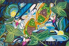 Nadya_Warthen_Gibson._Relaxation_7_16_x_12_original_acrylic_on_board_ready_to_hang._Retail_250.00_Sale_200.00