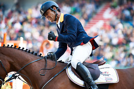 LOPEZ, Carlos, (COL), Prince de la Mare during First round Team competition at Alltech World Equestrian Games at Stade Michel...