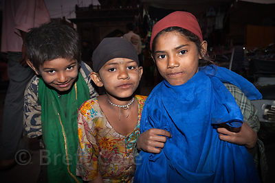 Street girls in Jodhpur, Rajasthan, India