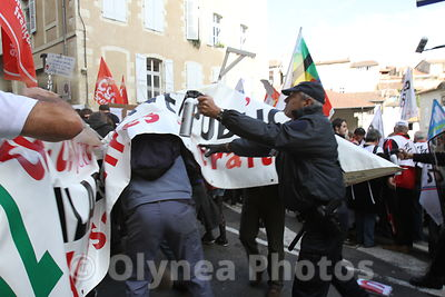 MANIF REFORME RETRAITES SYNDICATS POLICE MANIFESTANTS CGT FO FSU CFDT NATIONAL DEMO