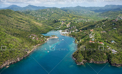 Marigot Bay St Lucia in the Carribean
