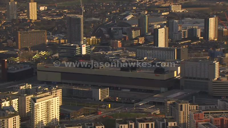 Aerial footage of Westfield, Stratford City, London