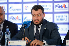 Boris Sapozhnikov during the Final Tournament - Closing press conference - Final Four - SEHA - Gazprom league, Skopje, 15.04....