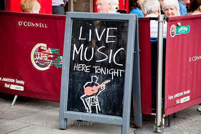 Live music sign, Dublin, Ireland