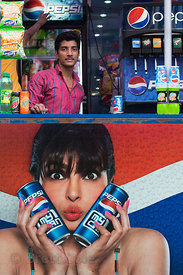 Pepsi all the way at a shop in Ballygunge, Kolkata, India