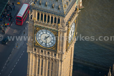 Aerial view of the Elizabeth Tower, House of Parliament, London