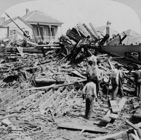 Galveston disaster, getting a dead body from the ruins