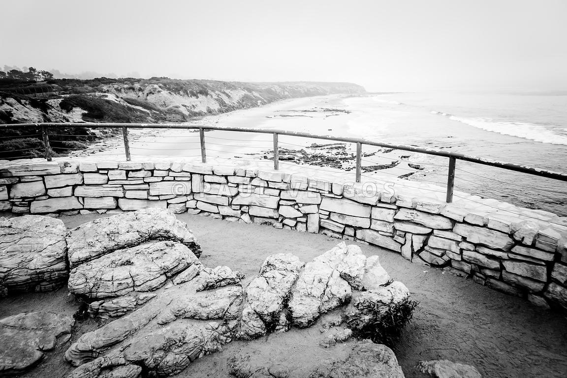 Laguna Beach Crystal Cove in Black and White