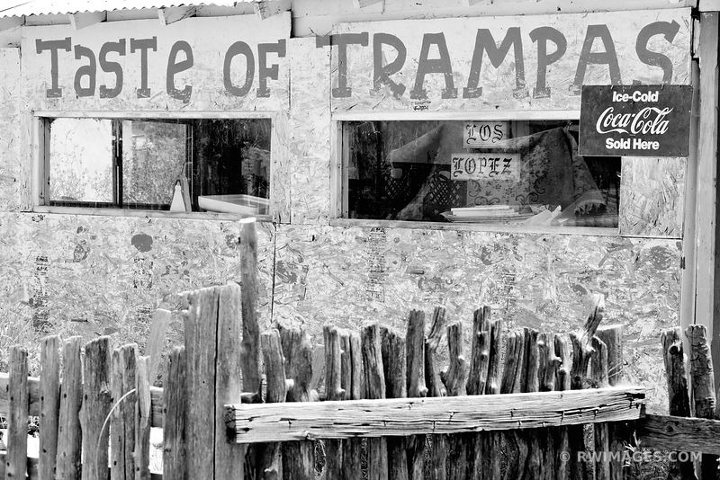 TASTE OF TRAMPAS LAS TRAMPAS NEW MEXICO BLACK AND WHITE