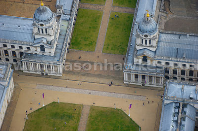 London. Aerial view of the University of Greenwich